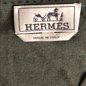 Hermes sweater size L. Green